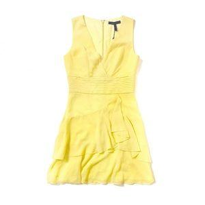 BCBG MaxAzria Marissa Yellow Layered Dress